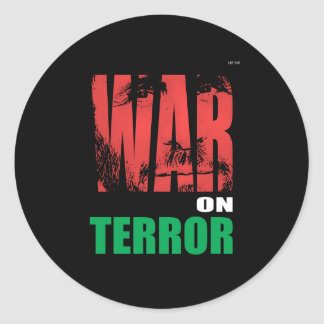 Guerra antiterrorista pegatina redonda