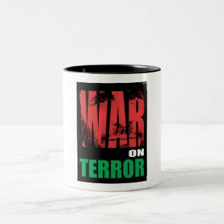 Guerra antiterrorista tazas de café