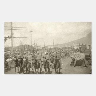 Guerra Boer del ejército británico Rectangular Pegatina