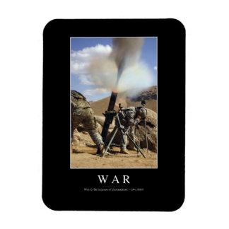Guerra: Cita inspirada 1 Rectangle Magnet