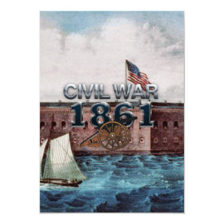 """Guerra civil 1861 de ABH Invitación 5"""" X 7"""""""