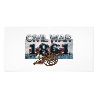 Guerra civil 1861 de ABH Tarjetas Fotográficas