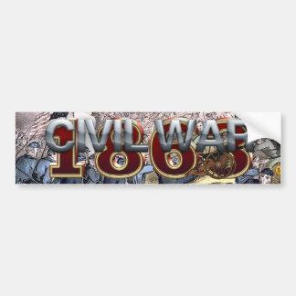 Guerra civil 1863 de ABH Pegatina Para Auto