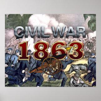 Guerra civil 1863 de ABH Póster