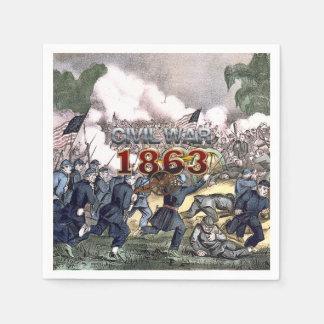 Guerra civil 1863 de ABH Servilletas De Papel