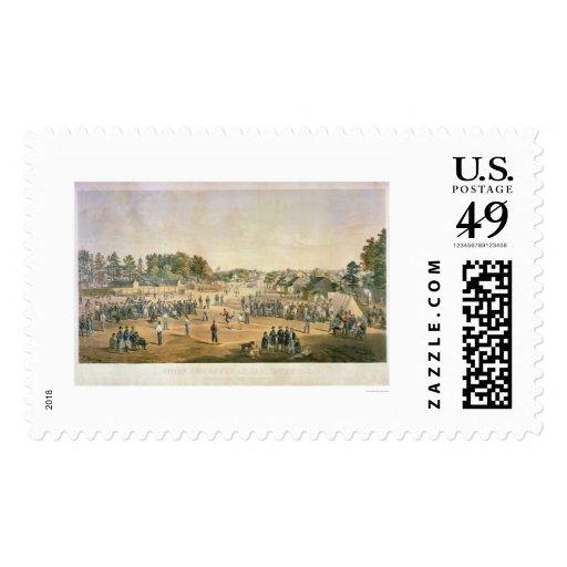 Guerra civil 1863 del béisbol del preso franqueo
