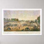 Guerra civil 1863 del béisbol del preso poster