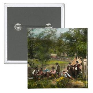 Guerra civil - campo de Gettysburg de capitán Huft Pin Cuadrado