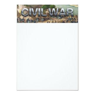 Guerra civil de ABH Invitación 12,7 X 17,8 Cm