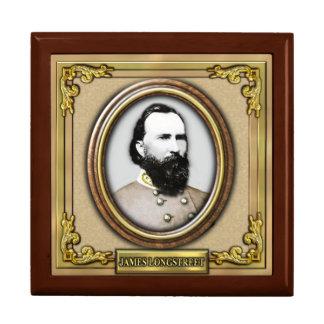 Guerra civil de James Longstreet Joyero Cuadrado Grande