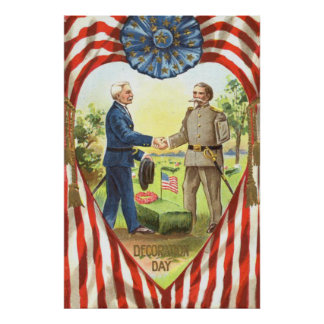 Guerra civil de la unión del confederado de la póster