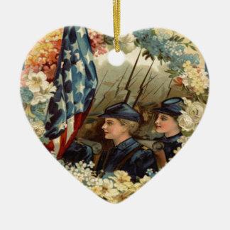 Guerra civil de marzo del desfile de la guirnalda adornos
