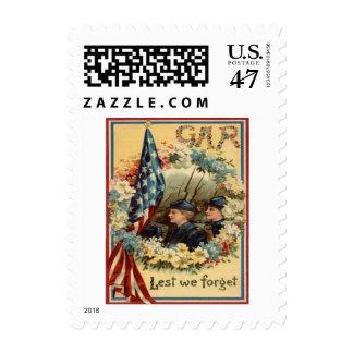 Guerra civil de marzo del desfile de la guirnalda sello postal