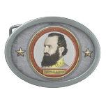 Guerra civil de Stonewall Jackson Hebilla Cinturon Oval