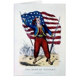 Guerra civil Nueva York Zouaves Felicitación