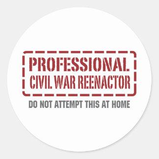 Guerra civil profesional Reenactor Pegatina Redonda