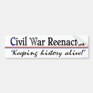 Guerra civil Reenactor Bumpersticker Pegatina Para Auto