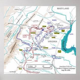 Guerra civil Virginia septentrional campaña 7-28 d Poster