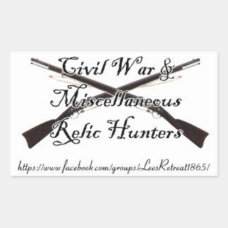 guerra civil y etiqueta diversa de los cazadores