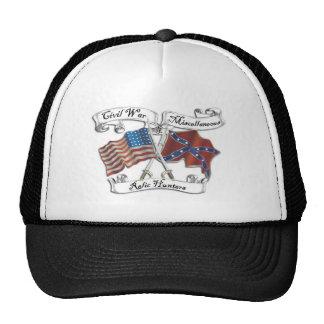 guerra civil y gorra diverso del logotipo de los