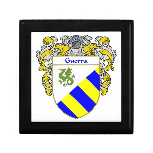 Guerra Coat of Arms/Family Crest Jewelry Box