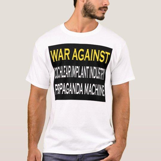Guerra contra la máquina de la propaganda de la playera