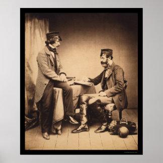 Guerra crimea 1855 de la Comisión sanitaria Póster