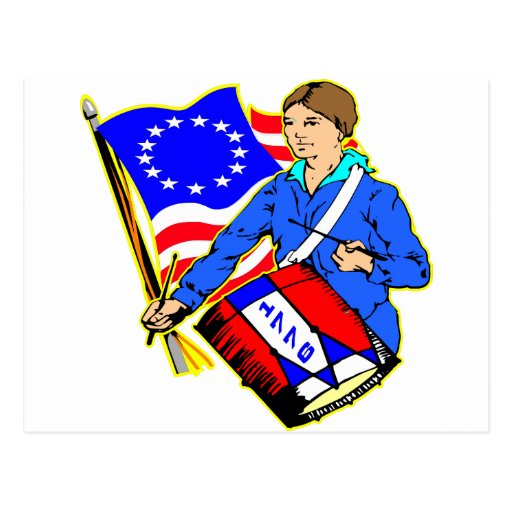 Guerra de 1776 revolucionarios para la postal