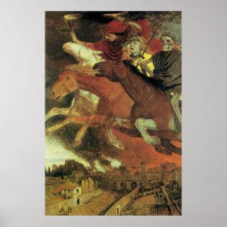 Guerra de Arnold Bocklin, bella arte del Póster