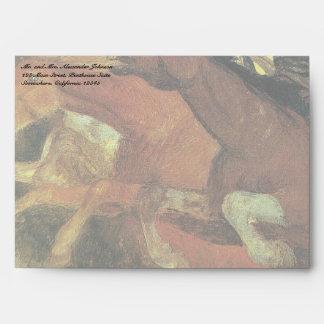 Guerra de Arnold Bocklin, bella arte del Sobre