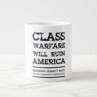 Guerra de clase taza extra grande