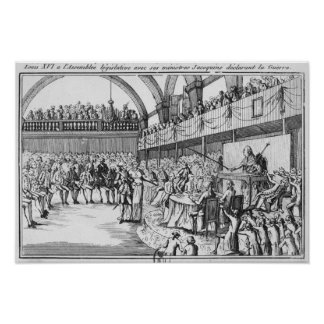 Guerra de declaración de Louis XVI el el 20 de abr Impresiones
