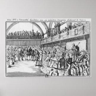 Guerra de declaración de Louis XVI el el 20 de abr Póster