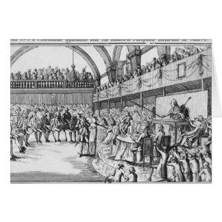 Guerra de declaración de Louis XVI el el 20 de abr Tarjeta De Felicitación