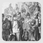 Guerra de ducados calcomania cuadradas personalizada