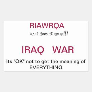 Guerra de Iraq Pegatina Rectangular