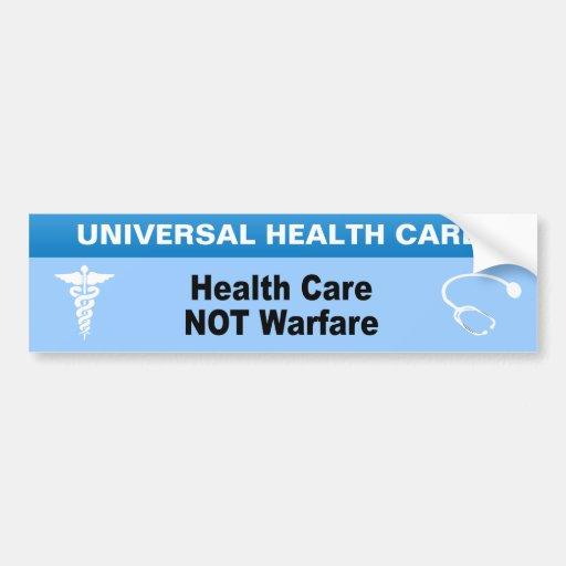 Guerra de la atención sanitaria no pegatina para auto