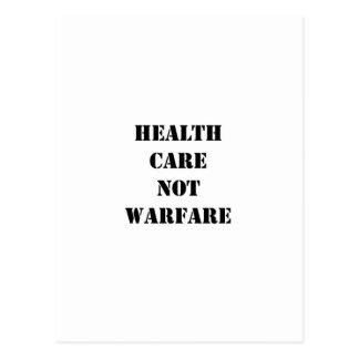 Guerra de la atención sanitaria no tarjetas postales