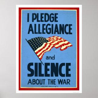 Guerra de la lealtad del compromiso WPA 1941 Póster