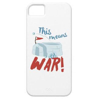 Guerra de la nieve iPhone 5 fundas
