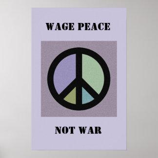Guerra de la paz del salario no impresiones