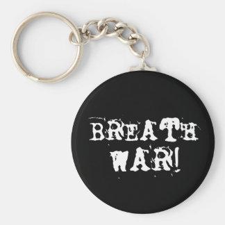 Guerra de la respiración llavero redondo tipo pin