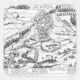 Guerra de la sucesión de Juelich, 1610 Pegatina Cuadrada