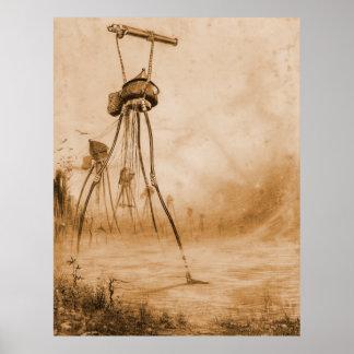 Guerra de los armas de gas de los mundos póster