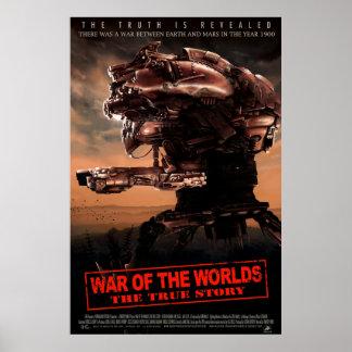 Guerra de los mundos el cartel de película verdade póster