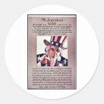 Guerra de Mr.Americon Etiqueta Redonda