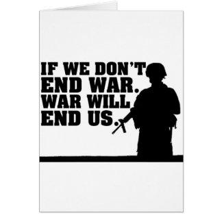 Guerra de Noe de la paz Tarjeta De Felicitación