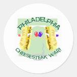 Guerra de Philly Cheesteak Pegatina Redonda