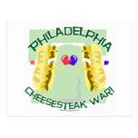 Guerra de Philly Cheesteak Tarjeta Postal