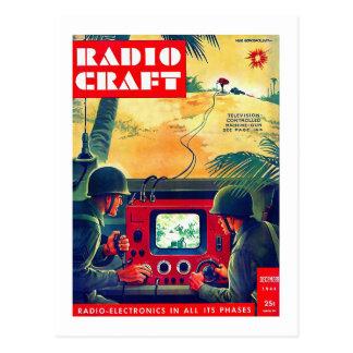 Guerra de radio militar del arte TV del kitsch ret Tarjetas Postales